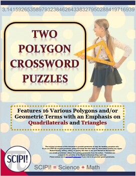 Two Polygon Crossword Puzzles that Emphasize Quadrilateral
