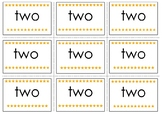 Two Pre-Primer Sight Word Flash Cards