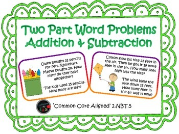 Two Part Word Problems