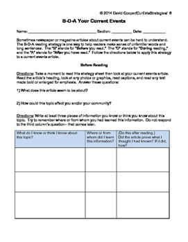 Two Reading Strategies To Engage Students In Current Events Problem Solving