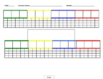 Two Rows Seating Chart