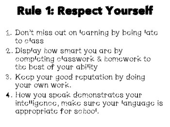 Two Rules of Respect