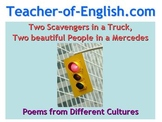 Two Scavengers in a Truck, Two beautiful people in a Mercedes PowerPoint