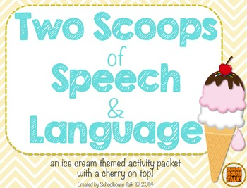 Two Scoops of Speech and Language {ice cream themed activities}