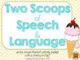 Two Scoops of Speech & Language {ice cream themed activities}