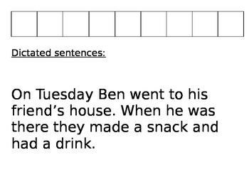 Two Sentence Assessment First Grade