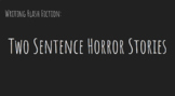 Two Sentence Horror Stories Activity