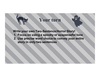 Two Sentence Horror Stories - Word Choice, Precise Language, & Tone