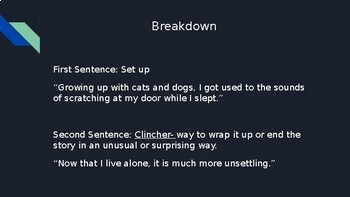 Two-Sentence Story Writing Activity