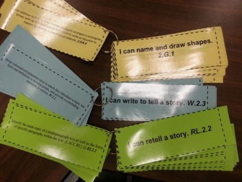 Two-Sided 2nd Grade CCSS ELA Standards with I Can Statements on Front