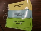 Two-Sided 2nd Grade CCSS Math Standards with I Can Statements on Front