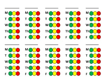 Two Sided Color Coded Behavior Cards
