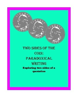 Two Sides of the Coin: Paradoxical Writing