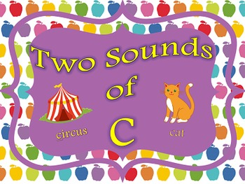 Two Sounds of C Power Point and Printables