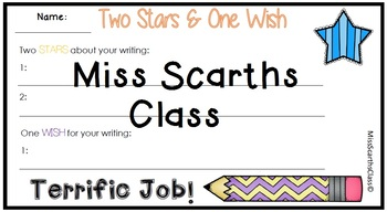 Two Stars One Wish - Writing Feedback