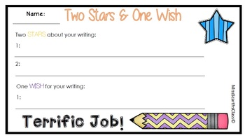 Two Stars One Wish - Writing Feedback