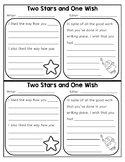Two Stars and One Wish Feedback Form