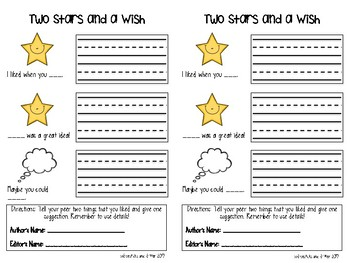 Two Stars and a Wish Feedback Form