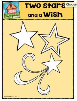 Two Stars and a Wish {P4 Clips Trioriginals Digital Clip Art}