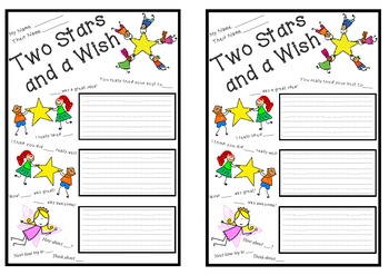 Delightful Two Stars And A Wish Peer Assessment Template