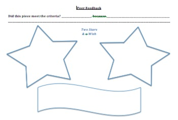 Two Stars and a Wish (Peer Feedback)
