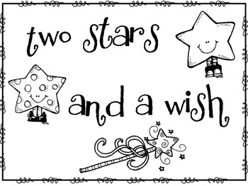 Two Stars and a Wish- Poster and Worksheet