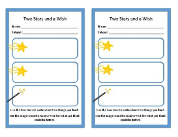 Two Stars and a Wish Template - Bilingual