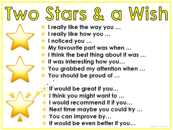Two Stars and a Wish display posters (Freebie)