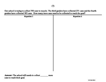 Two-Step Addition & Subtraction Word Problems