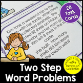Two Step Word Problems Addition & Subtraction Task Cards