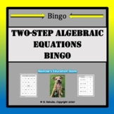 Two-Step Algebraic Equation Bingo (30 pre-made cards!)