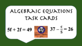 Two-Step Algebraic Equations Task Cards