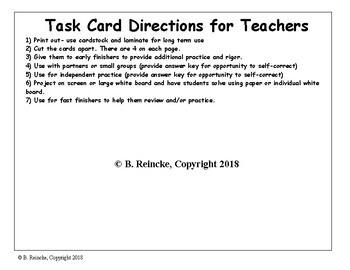 Two-Step Algebraic Equations Task Cards
