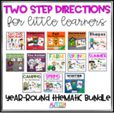 Autism Speech Therapy Two Step Directions Bundle