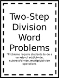 Two Step Division Word Problems