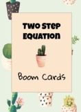 Two Step Equation BOOM cards