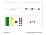 Two-Step Equation Card Sort