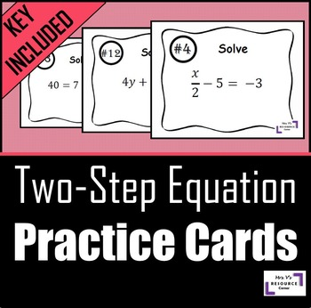 Two Step Equation Cards