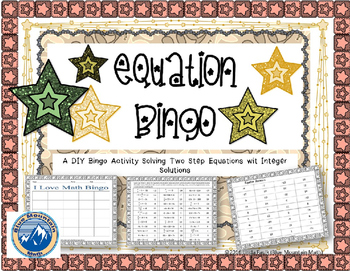 Two Step Equation Do It Yourself Bingo