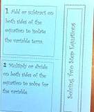 Two Step Equation Foldable