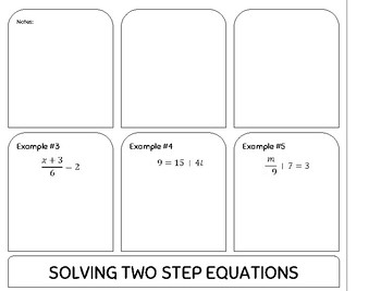 Two-Step Equation Foldable