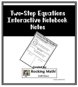 Two-Step Equation Interactive Notebook Notes