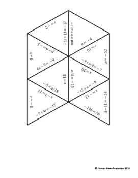 Two-Step Equation Jigsaw