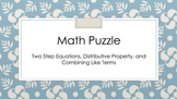 Two Step Equation Math Puzzle