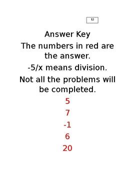 Two Step Equation Maze