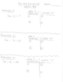 Two Step Equation Notes, Practice Problems, Assessments