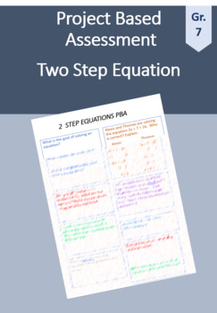 7th Grade Math PBA: Two-Step Equations
