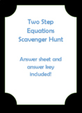Two Step Equation Scavenger Hunt