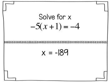 Two Step Equation Scavenger Hunt
