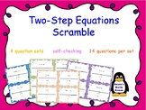 Two-Step Equation Scrambled Puzzle
